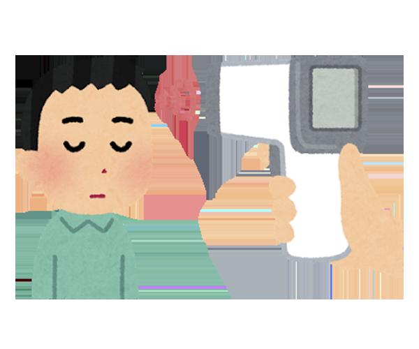 4.検温(非接触体温計を使用)